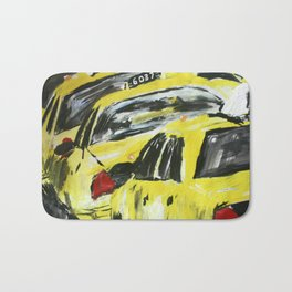 New York Taxis Fine Art Acrylic Painting Bath Mat