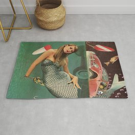 Mechanic Mermaid    Rug