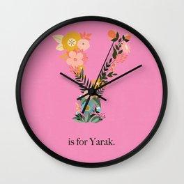 Y is for Yarak Wall Clock