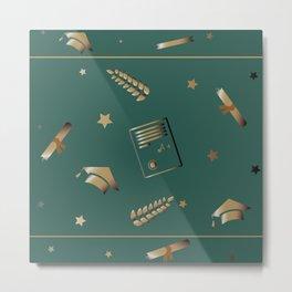 Graduation Pattern. Cute Pattern Metal Print