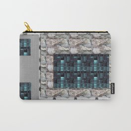 textures for the interior grey blue color Carry-All Pouch
