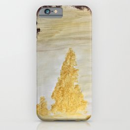 Golden secluded forest iPhone Case