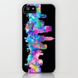 indianapolis city skyline watercolor 5 iPhone Case