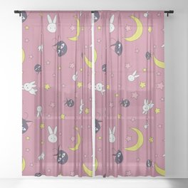 Rabbit Full Moon Sheer Curtain