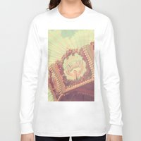 shabby chic Long Sleeve T-shirts featuring Carousel Photograph - vintage circus, nursery decor, shabby chic by Scarlett Ella