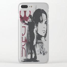 Jyn Sketch Clear iPhone Case