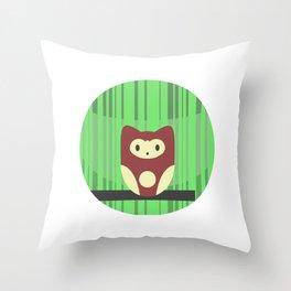 Brown Owl Throw Pillow