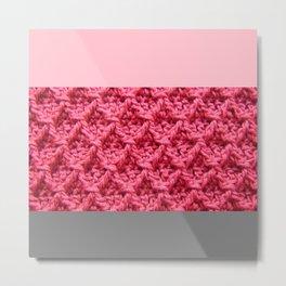 cRoChet pink Metal Print