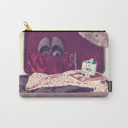 Vintage Journey Suitcase (Hers) (Retro and Vintage Still Life Photography)  Carry-All Pouch