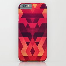 Abstract  geometric triangle texture pattern design in diabolic future red iPhone 6s Slim Case