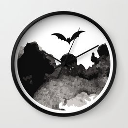 Primitive Halloween Moon Phase Wall Clock