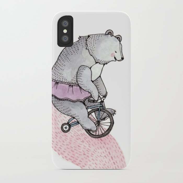 Cycling Bear iPhone Case