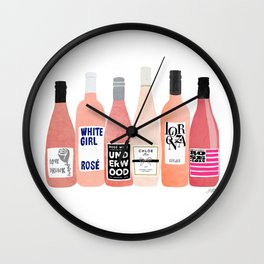 Rose Bottles Wall Clock