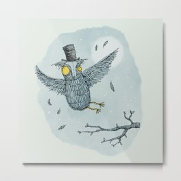 'Mr Owl' Metal Print