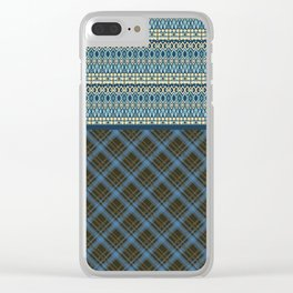 Patchwork, ornament, Oriental  1 Clear iPhone Case