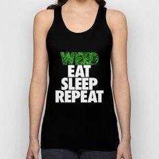 Weed Eat Sleep Repeat Unisex Tank Top
