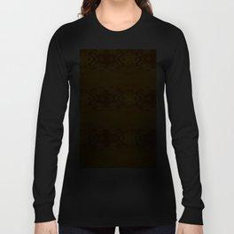 Golden Hibiscus Abstract Pattern Long Sleeve T-shirt