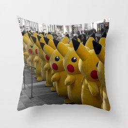 P0kemon P1kachu New York Throw Pillow