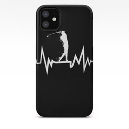 Golfer Heartbeat For Golf Lovers iPhone Case