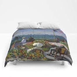 Claude Monet - Garden at Sainte-Adresse (1867) Comforters