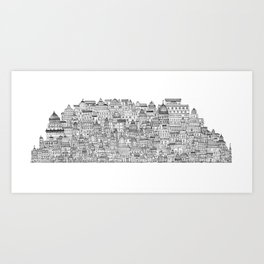 The Long Town  Art Print