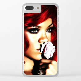 Rihanna - Celebrity (Barbie Doll) Clear iPhone Case