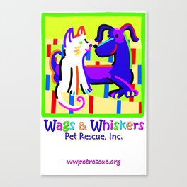 Wags & Whiskers Test Canvas Print
