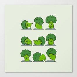 Broccoli Yoga Canvas Print