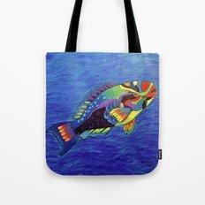 Rainbow parrot fish Tote Bag