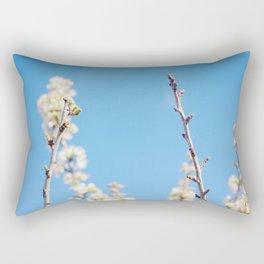 Blue Blossoms Rectangular Pillow