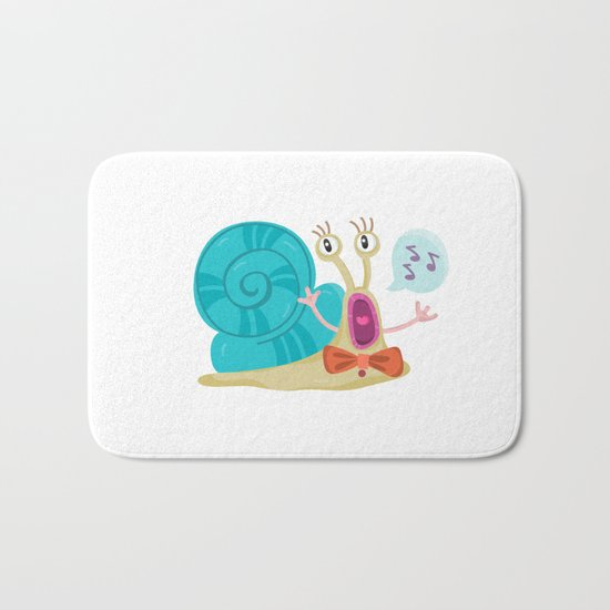 Cute Snail Bath Mat