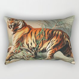 Royal bengal tiger from Johnson's household book of nature  Rectangular Pillow