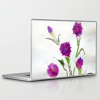 freud Laptop & iPad Skins featuring You Know What Freud Said About Carnations by Kate Havekost Fine Art