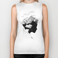 hat Biker Tanks featuring It's a cloudy day by Robert Farkas