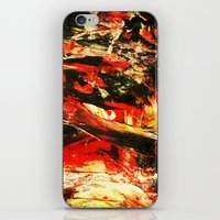 camp iPhone & iPod Skins featuring Camp Fire by James Peart