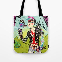 Cyber Punk Girl Tote Bag