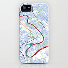 Mesopotamia's POP urban map iPhone Case
