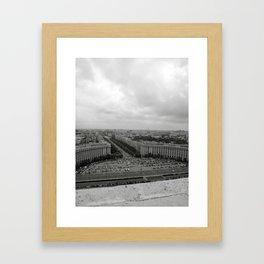 Bird's Eye View of Bucharest, Romania Framed Art Print