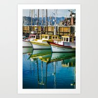 boats Art Prints featuring Boats by Chee Sim