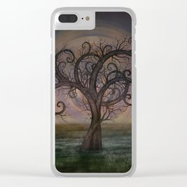 Golden Spiral Tree #3 Clear iPhone Case