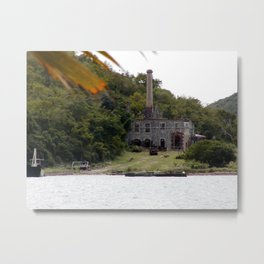 Charlotte Amalie Factory Remains Metal Print
