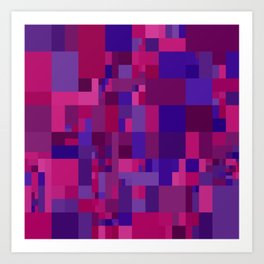 pink and  blue mosaic Art Print