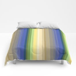 Multi-colored striped pattern . Comforters