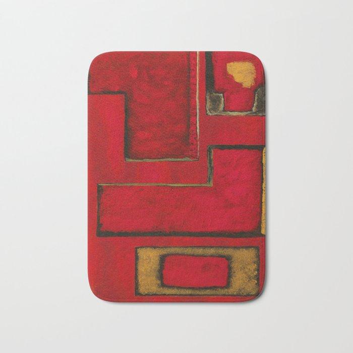 Detached, Abstract Shapes Art Bath Mat