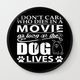 Movie Dog Wall Clock