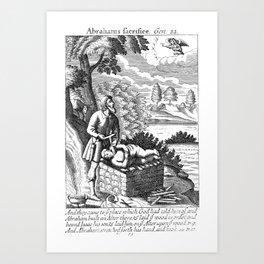 Abraham's almost kills Isaac.   Art Print