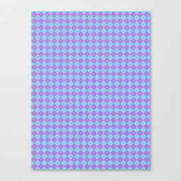 Lavender Violet and Baby Blue Diamonds Canvas Print