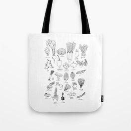 ABC veggies Tote Bag
