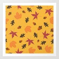 Autumn Pattern Art Print