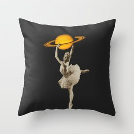 Dance with Saturn Throw Pillow